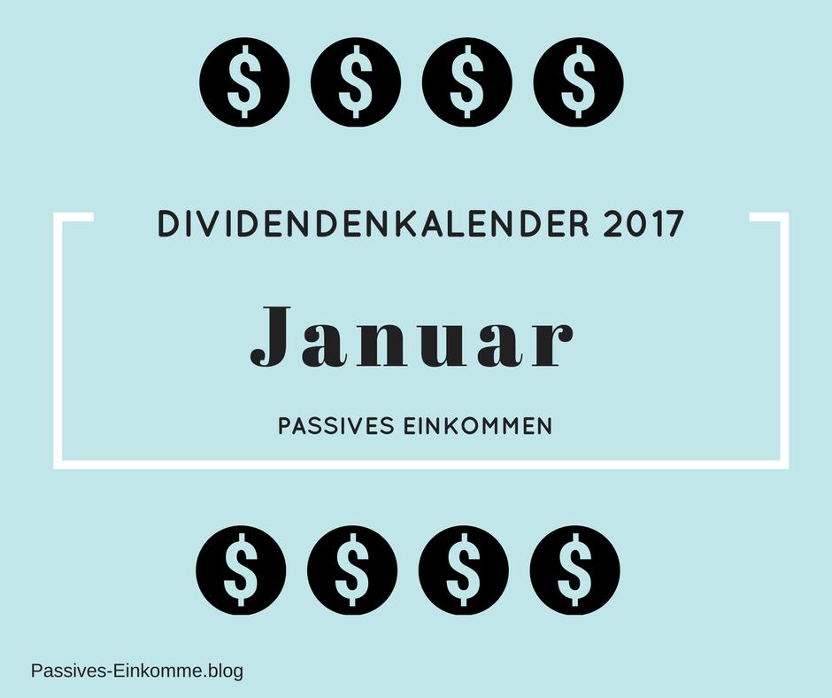 passives einkommen dividendenkalender