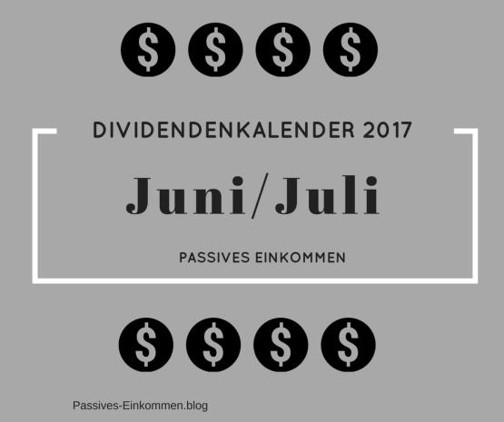 Einnahmen Juni Juli passives Einkommen