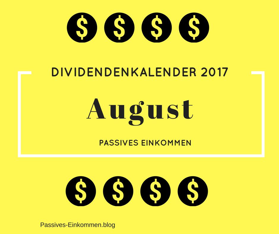 Einnahmen Dividenden August