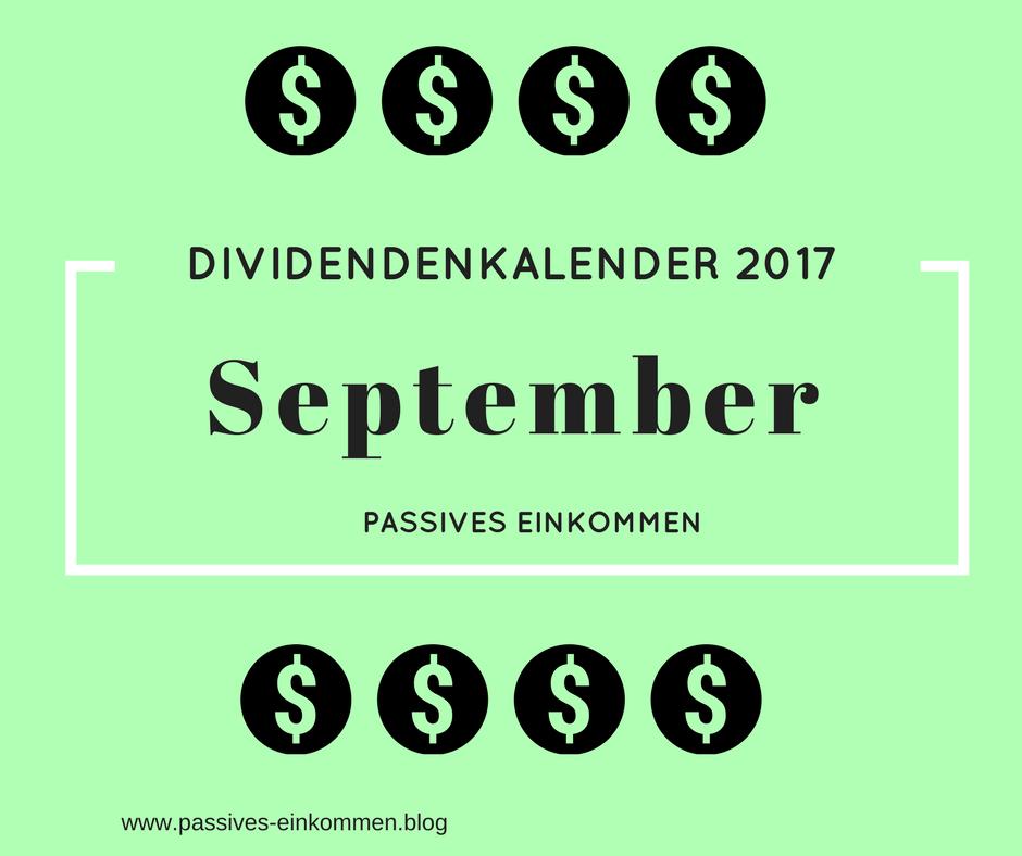 September Dividenden