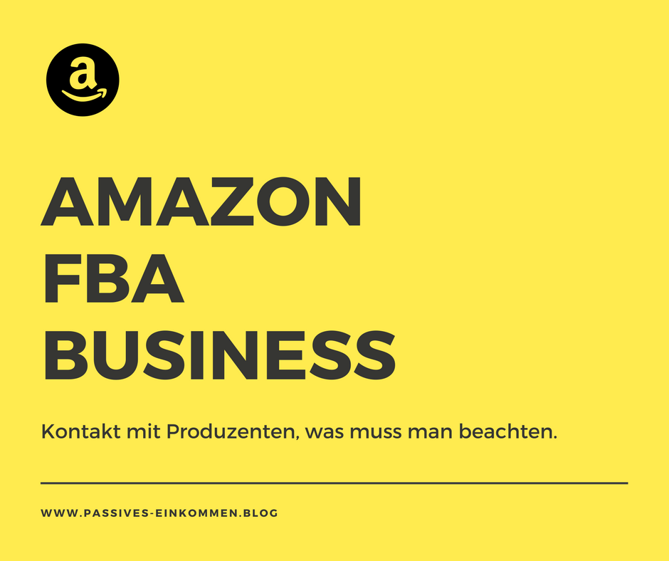 kontakt mit Lieferanten Amazon FBA