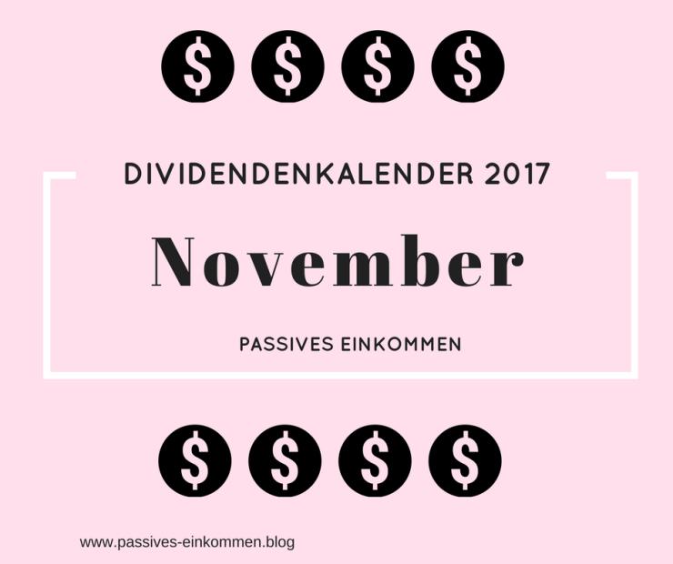 Dividenden für November