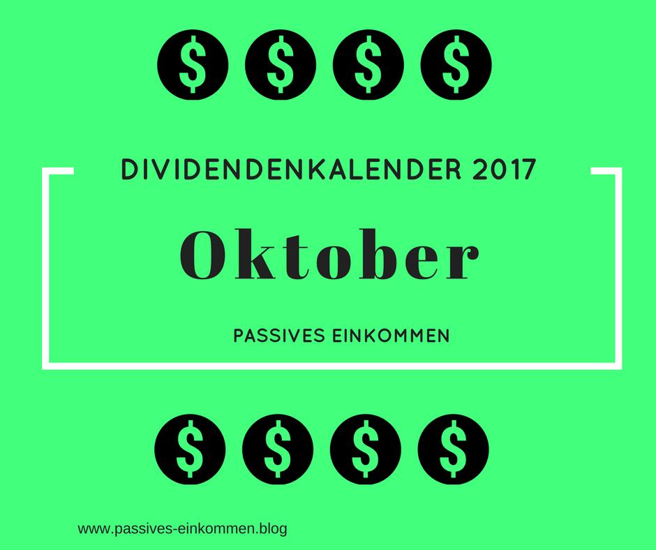 Dividenden für oktober